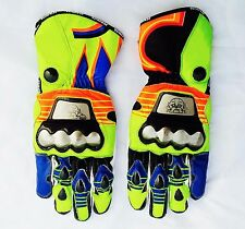 Valentino Rossi D1 Pro Metal  Racing Gloves Motorbike Leather Gloves VR46 Gloves