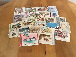Vintage Christmas Cards Job Lot