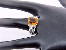 DAVID YURMAN 10 x 8  CITRINE /DIAMOND PETITE WHEATON RING SIZE 7 1/2