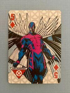Marvel Xavier Institute for Higher Learning Card Archangel Five (5) of Diamonds