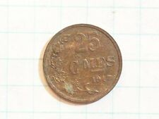COIN LUXEMBOURG 1947 25 CENTIMES 25 C MES LETZEBURG BRONZE