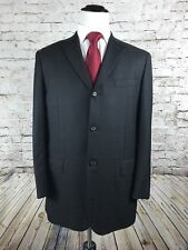 Gianluca Isaia Napoli Sport Coat Size 44R Gray Plaid Wool Cashmere 150's