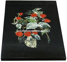 Marble Coffee Center Table Top Coral Stone Inlaid Marquetry Art Decorative H3001