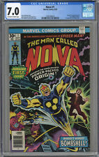 NOVA #1 CGC 7.0 ORIGIN & 1ST APPEARANCE OF NOVA! OFF-WHITE TO WHITE PAGES 1976