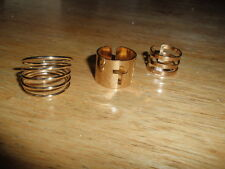 3pcs Set Plain Cute Above Knuckle Ring Band Midi Rings