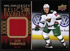 2015-16 UD Tim Hortons NHL Jersey #JRJP Jason Pominville Relic (ref 38268)