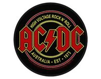 AC/DC high voltage aus 73 circular 2015 SEW ON PATCH official merch ANGUS