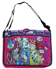 Monster High Girls Large Messenger Shoulder Bag School Pink Black NEW
