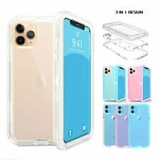 For iPhone 11 Pro/11 Pro Max Rugged Heavy Duty Transparent Armor Case Cover