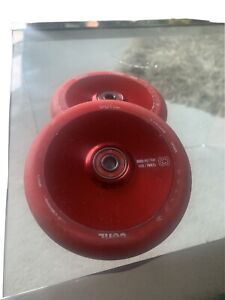 CORE Hollow Stunt Scooter Wheels V2 110mm - Red Sold As A Pair