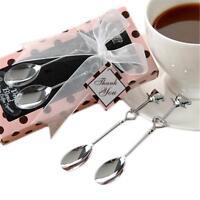 Heart Shaped Stainless Steel Coffee Dessert Spoon Teaspoon Household Spoons 2x