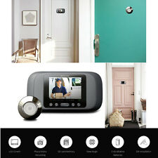 Eques Door Peephole Viewer LCD Security Camera Monitor Video Recorder + SD Card