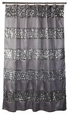 Popular Bath 7 Piece Sinatra Silver Shower Curtain, Rugs and Resin Accessory Set