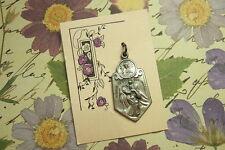 Vintage Antique Catholic Medal ST. CHRISTOPHER Scapular Still on orginal card!