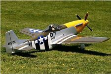"Scale P51 Mustang  60""  Giant Scale RC Model AIrplane Printed Plans"