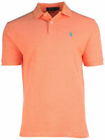 Polo Ralph Lauren Classic Fit Polo Shirt Mens Pique Mesh True Orange Heather
