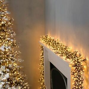 Premier 720 LED Multi Action Warm White Cluster Christmas Lights with Timer