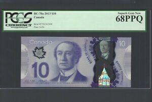 Canada 10 Dollars 2013 BC-70a Uncirculated Grade 68