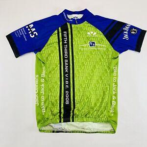 Voler 2008 Jack Daniels 5/3rd Bank MS Society Mens Cycling Jersey Green Blue