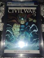 Civil War #3 Ed McGuiness Incentive (1:25) Variant CGC 9.6(Marvel 2006)