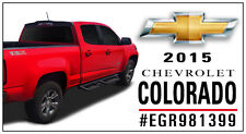 For: CHEVY COLORADO CREW CAB; 981399 Truck Cab Spoiler MATTE BLACK 2015-2017