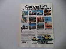 advertising Pubblicità 1979 CAMPER FIAT ANDAL/KAVIR/SHANGO