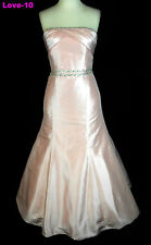 ORG $799 Forever Yours 38110 Baby pink 14 Wedding Dress Beaded Bridal Gown