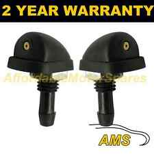 PAIR UNIVERSAL WINDSCREEN WASHER SINGLE JET STRAIGHT INLET SCREW NUT FIT WWY8