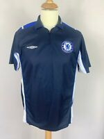 Chelsea FC Umbro Training Shirt Black Men's Medium Vintage Football Camiseta
