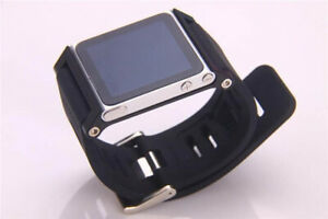 Insert Style Aluminum Metal Watch Band Wrist Strap for iPod Nano 6th Cover