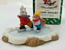 Fitz & Floyd Holiday Hamlet - Skaters - 1993