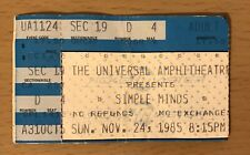 1985 SIMPLE MINDS LOS ANGELES CONCERT TICKET STUB DON'T YOU FORGET ABOUT ME