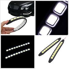 One Pair 12V 10 LED COB LED White Car Autos Fog Lights DRL Driving Lamps Strips
