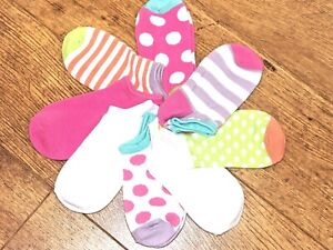 Socktopia girls 8 pack no show combeb cotton socks fantastic quality 2 size BNWT
