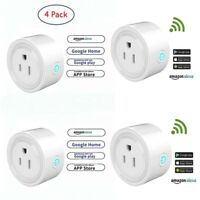 4 x Smart Plug Socket Power WIFI Switch APP Remote Control Timer Home Automation