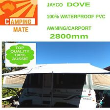 Jayco DOVE Waterproof PVC PRIVACY screen  SHADE WALL 2800mm camping mate