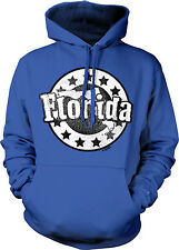 Florida US State Floridian Outline Sunshine From Born Stars Of Hoodie Sweatshirt