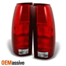 Fit 88-98 C/K C10 GMC Sierra Suburban Pickup Truck Red Clear Tail Light Lamps