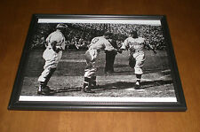 1946 MONTREAL EXPOS JACKIE ROBINSON CROSSING HOME PLATE FRAMED B&W PRINT