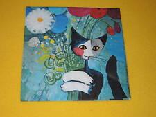 4 stück Servietten Katzen FOR YOU  Rosina Wachtmeister Kunst  1/4 Für Dich