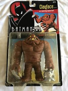 1993 KENNER BATMAN ANIMATED SERIES CLAYFACE W/ SPIKED BALL ACTION FIGURE