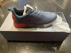 Ecco Men's S-Three Golf Shoes - Gray and Red, Size 10.5