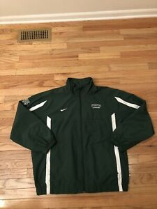 Michigan State Spartans NCAA Nike Team Issued Used Men's Lacrosse Warm Up Jacket