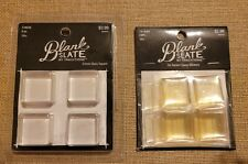 Blank Slate By Traditions 21mm Glass Square 8pcs, 1in Square Epoxy Stickers 24pc