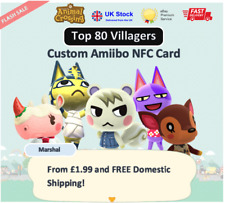 Top 80 Custom NFC Amiibo Card for Animal Crossing ✅ SAME DAY DISPATCH & CHEAPEST