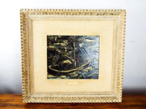 "Vintage Oil On Board Painting John H Rockwell ""Night Sailing"" 1940s CA Artwork"