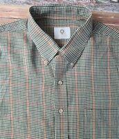 Viyella Mens Brown Plaid Cotton Wool Blend Long Sleeve Button Down Shirt Sz 3XL