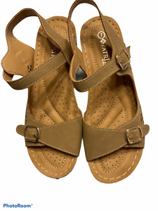 PATRIZIA BY SPRING STEP Womens Platea Brown Leather Sandals Size EUR 37 US 7