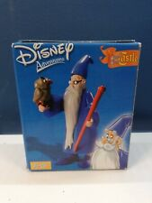 Disney Famosa The Sword In The Stone Merlin And Archimedes The Owl Figures RARE