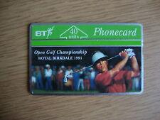 BT 40u Phonecard - BTC 042 - Royal Birkdale Golf Open 1991 - MINT UNUSED